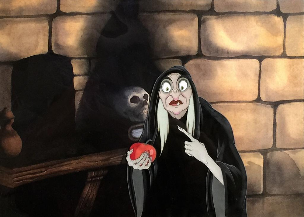 "Original Production Animation Cel of The Old Hag (The Witch) from ""Snow White and the Seven Dwarfs,"" 1937"