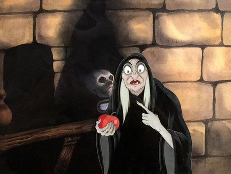"Original Production Animation Cel of The Old Hag from ""Snow White and the Seven Dwarfs,"" 1937"