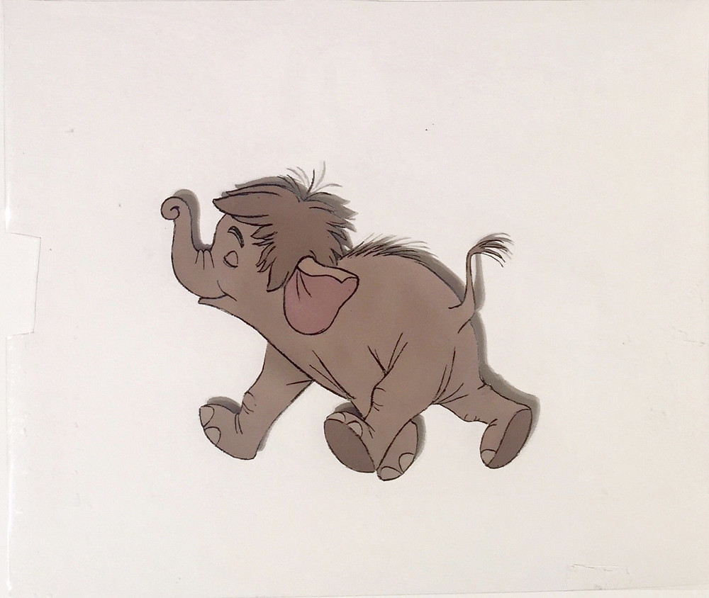 Original production animation cel of Hathi Jr. (Baby Elephant) without the background.