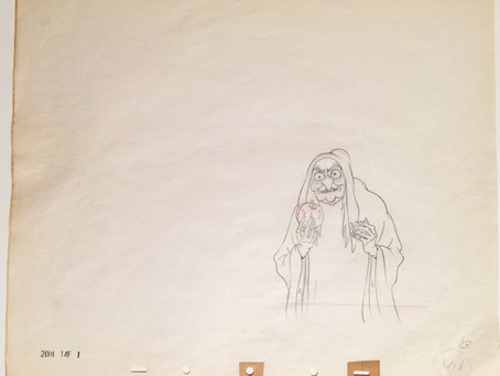 "Copy of Original Production Drawing of the Old Hag (The Witch) from ""Snow White and the Seven Dwarfs"