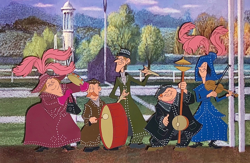 "Original Production Animation Cel of The Pearly Band from ""Mary Poppins,"" 1964"