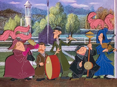 """Original Production Animation Cel of The Pearly Band from """"Mary Poppins,"""" 1964"""