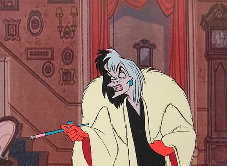 """Original Production Animation Cel of Cruella De Vil from """"One Hundred and One Dalmatians,"""" 1961"""