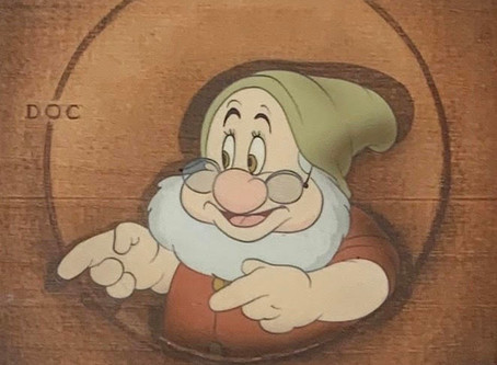 """Original Production Animation Cel of Doc from """"Snow White and the Seven Dwarfs,"""" 1937"""