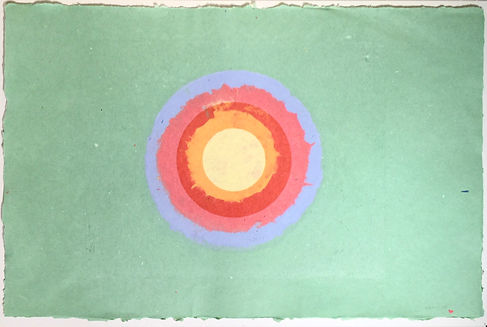 Kenneth Noland Circle Painting Color Field