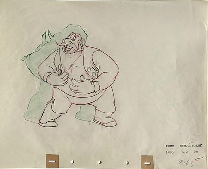 "Stromboli drawing from ""Pinocchio,"" 1940"