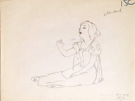 "Original Production Animation Drawing of Snow White from ""Snow White and the Seven Dwarfs,"" 1937"