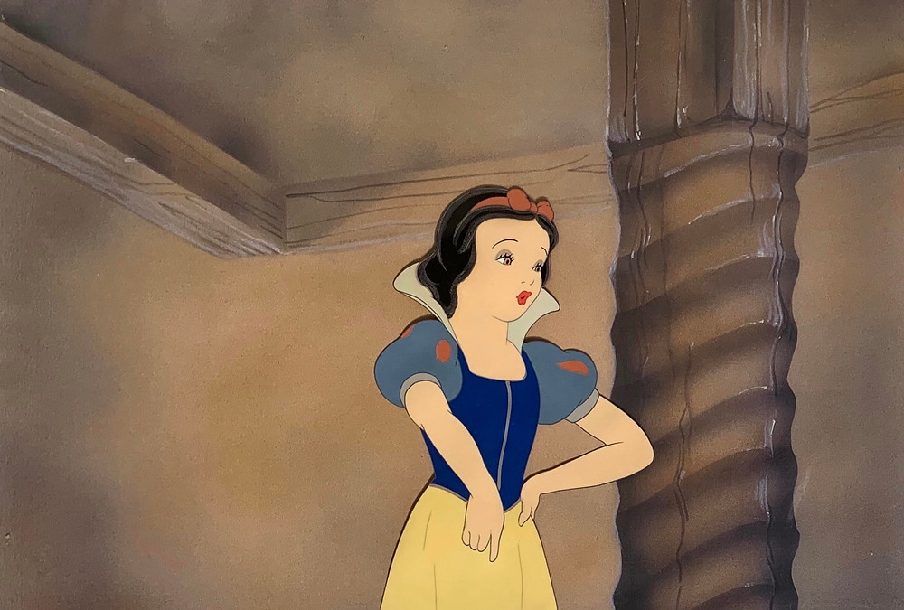 "Original Production Animation Cel of Snow White from ""Snow White and the Seven Dwarfs,"" 1937"