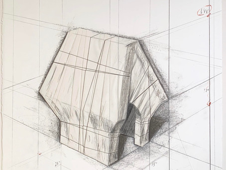 Wrapped Snoopy House, Project for Charles M. Schulz Museum, 2005 by Christo