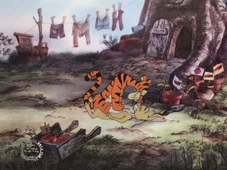 "Original Production Animation Cel of Tigger and Rabbit from ""Winnie The Pooh and Tigger Too,"" 1974"