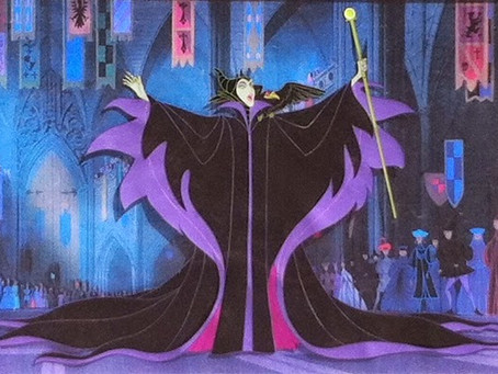 "Original Production Animation Cel of Maleficent and Diablo from ""Sleeping Beauty,"" 1959"