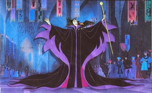 Original Production Animation Cel of Maleficent and Diablo from