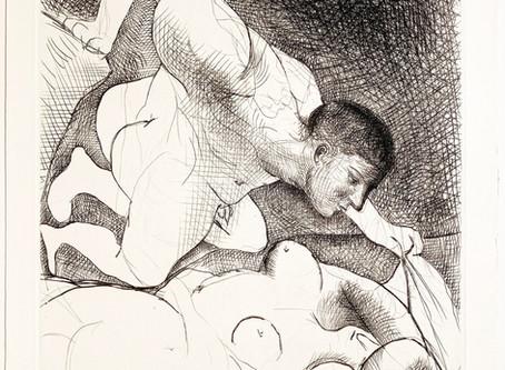 """""""Homme Dévoilant Une Femme,"""" 1931 from La Suite Vollard by Pablo Picasso"""