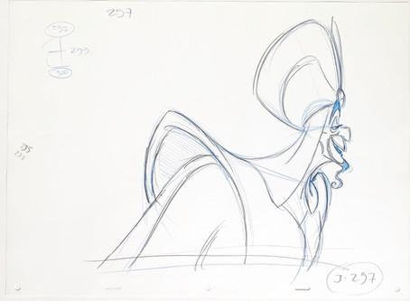 "Original Production Animation Drawing of Jafar from ""Aladdin,"" 1992"