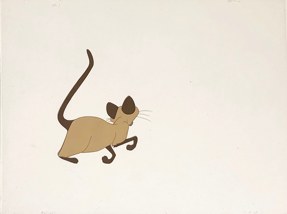Original production animation cel of Am without the background.