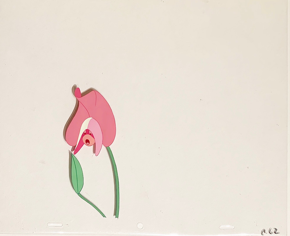 Original production animation cel of the Lily without the background.