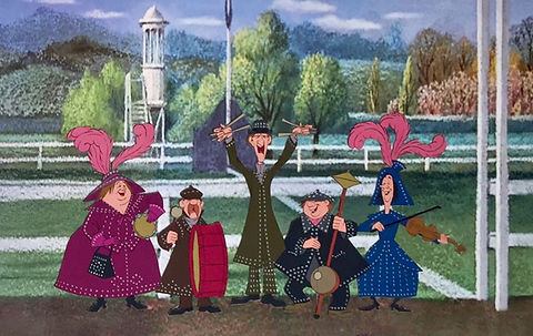 Walt Disney Mary Poppins Original Production Animation Cel