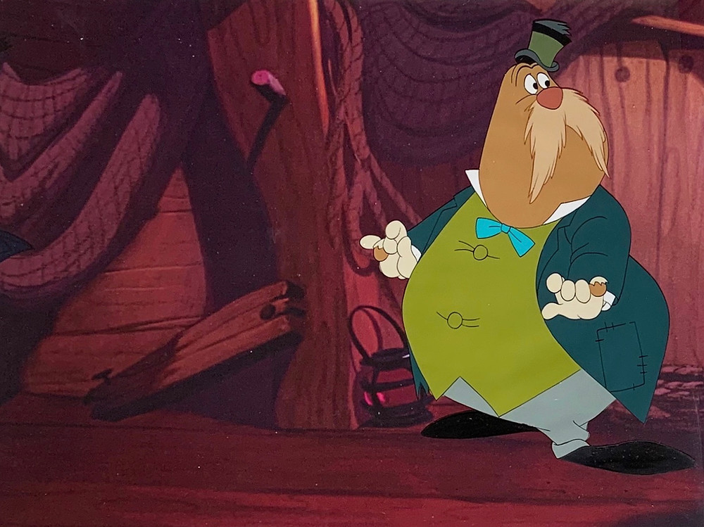 "Original Production Animation Cel of The Walrus from ""Alice In Wonderland,"" 1951"