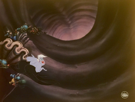 "Original production cel of Ursula from ""The Little Mermaid,"" 1989 from ""Poor Unfortunate Souls"""