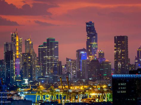 แสงสีกรุงเทพฯ เมืองฟ้าอมร ถ่ายในระยะ 7 กิโลเมตรด้วยกล้องนิคอน Z7 + เลนส์ 500 มม.