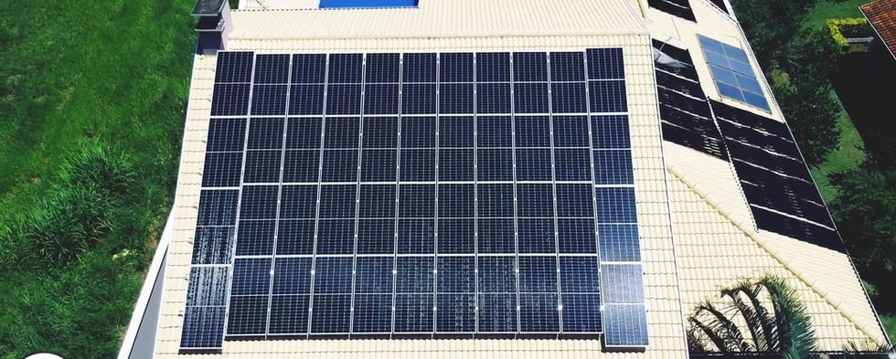 Energia solar residencial 44 placas em Atibaia