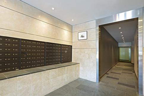 Modern lobby, New York City.