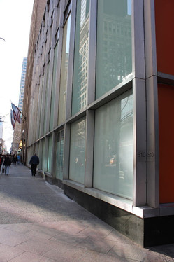 Side view of a modern building in NYC.