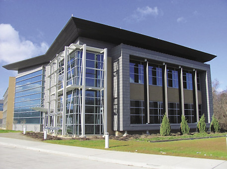 Brand-new commercial building with a modern exterior.