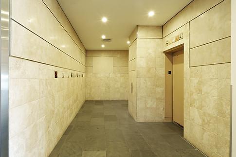 Elevator lobby in New York City.