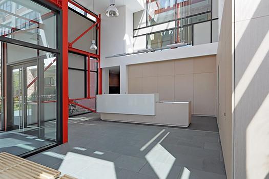 Modern reception room design.
