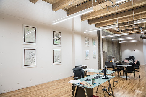 Open concept office layout.
