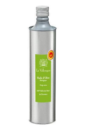 """Huile d'olive fruité vert BIO """"La Vallongue AOP Baux de Provence"""""""
