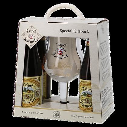 Tripel Karmeliet - 4 bières et 1 verre