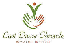 A logo with an abstact figure rising from, perhaps, hands, and the words Lat Dance Shrouds Bow in Style