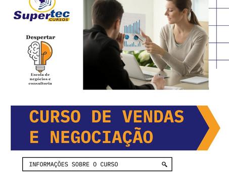 Novidade!!! Curso profissionalizante de Logística, Vendas e Negociação (Presencial) Inscreva-se!