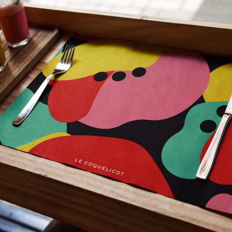 2019. Le Coquelicot. Set de table. MES..