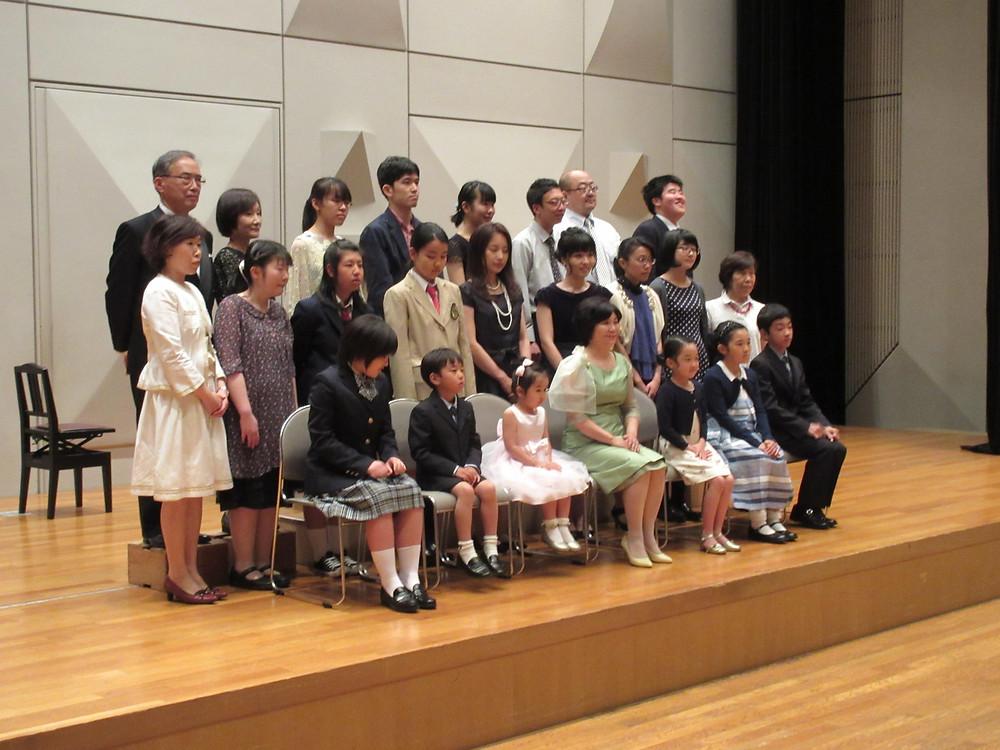 内丸ピアノ教室 ピアノ発表会 文京区シビックセンター 集合写真