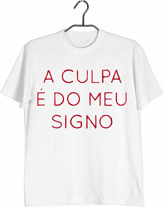 Camisa culpa do signo
