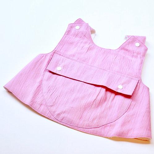 点滴エプロン(ピンク)