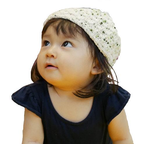 どんぐり帽子(ポンポングリーン/ピンク)