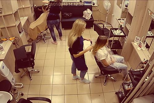 Видеонаблюдение в салон красоты под ключ 1 камера