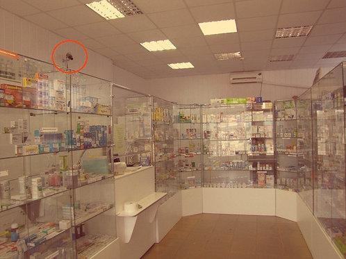 Видеонаблюдение в аптеку под ключ 2 камеры