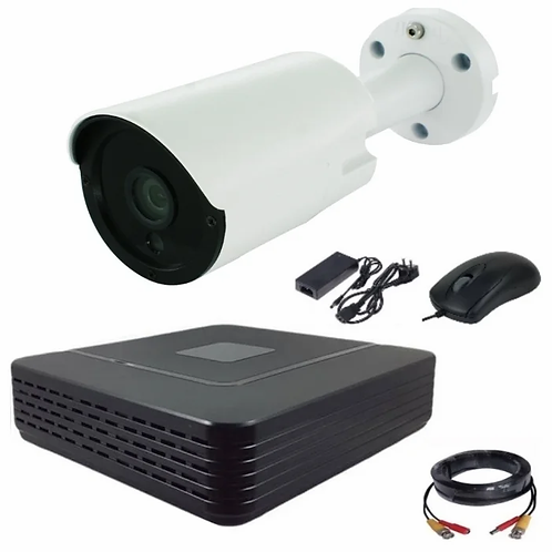 Комплект видеонаблюдения уличный одноканальный AHD с камерой 4 мегапикселя AHD40