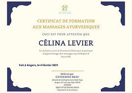 Certificat DE FORMATION AUX MASSAGES AYU