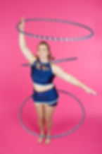 Lisa Truscott - long time performer and hen party leader shows some hula hooping sklls