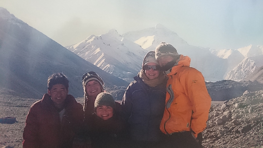 Myself and some friends at everest base camp in 2006 (Tibet side).  We were on the way from Tibet to Kathmandu via jeep so our trek was only a couple of hours to get here.  And that was tough enough with Jaye suffering from altitude sickness and it being bitterly cold!  Even more hats off!!