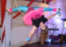 Roller Disco aerial hoop act -Lisa Truscott