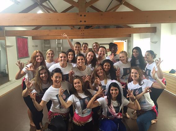 The girls enjoying a Bollywood hen party, Bath