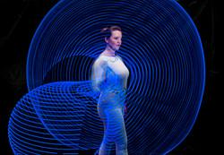 LED aerial hoop - Lisa Truscott