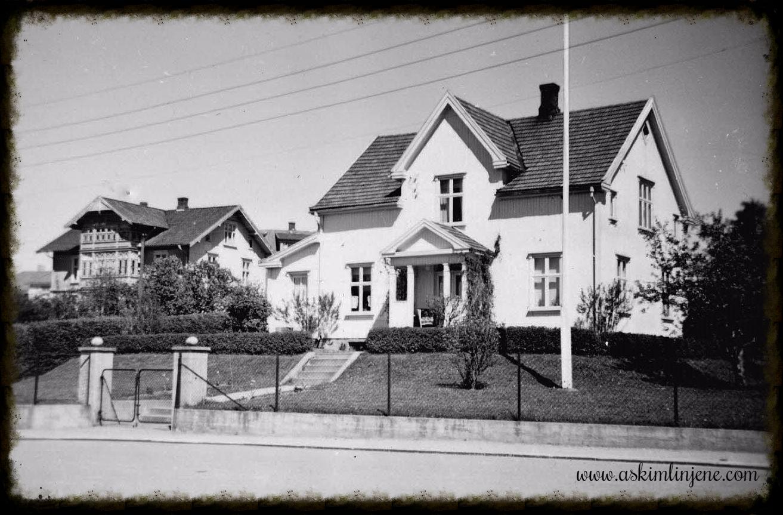 Degnes Villa sett fra gaten 1952